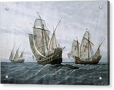 Discovery Of America 1492. The Caravels Acrylic Print by Everett