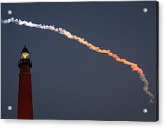 Acrylic Print featuring the photograph Discovery Sunset Plume by Paul Rebmann