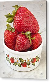 Dish Of Strawberries  Acrylic Print by Jonathan Welch