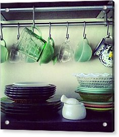 Dishes A Still Life Acrylic Print