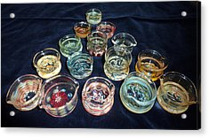 Dishes Acrylic Print by Glass Dabber