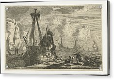 Dismantled Sailing Ship, Reinier Nooms Acrylic Print by Reinier Nooms