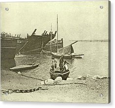 Dismantled Ships, Attributed To Peter Henry Emerson Acrylic Print by Artokoloro