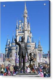 Disney And Mickey Acrylic Print