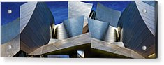 Disney Concert Hall-montage (color Version) Acrylic Print
