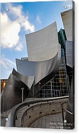 Acrylic Print featuring the photograph Disney Hall by Gandz Photography
