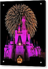 Disney Magic Acrylic Print by Benjamin Yeager