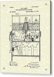 Display Apparatus 1890 Patent Art Acrylic Print by Prior Art Design