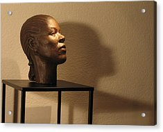 Display Sculpture - 2 Acrylic Print by Flow Fitzgerald