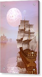Acrylic Print featuring the digital art Distant Explorers by Claude McCoy