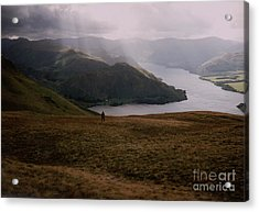 Distant Hills Cumbria Acrylic Print by John Williams