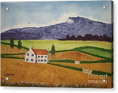 Acrylic Print featuring the painting Distant Hills by John Williams