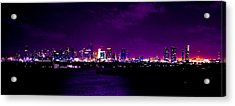Distant Lights Acrylic Print by Michael Guirguis