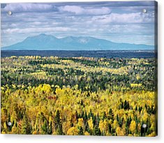 Acrylic Print featuring the photograph Distant Mountain by Gene Cyr