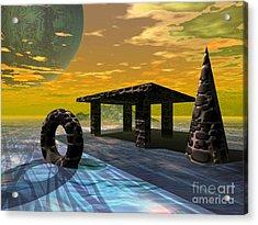 Distant Ranges Acrylic Print