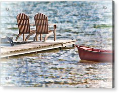 Distant Summer Acrylic Print by Cathy  Beharriell