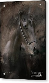 Acrylic Print featuring the painting Distinguished by Dorota Kudyba