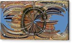 Distorted Lower Manhattan Acrylic Print by Susan Candelario