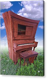 Distorted Upright Piano Acrylic Print by Mike McGlothlen