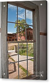 Distorted View Of The World Acrylic Print by Sue Smith