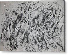 Distress Acrylic Print by Moshfegh Rakhsha