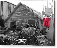 Distressed Fishery Acrylic Print