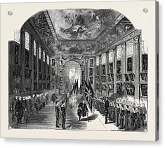 Distribution Of The Nelson Medals, In The Painted Hall Acrylic Print by English School