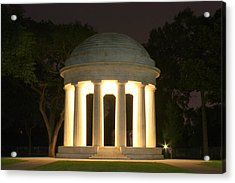 District Of Columbia World War I Memorial At Night Acrylic Print