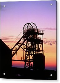 Disused Pit Head In Whitehaven Acrylic Print by Martin Bond/science Photo Library