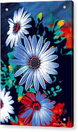 Dithered Daisies Acrylic Print
