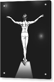 Diver Acrylic Print
