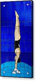 Diver Acrylic Print by Kimber Thompson