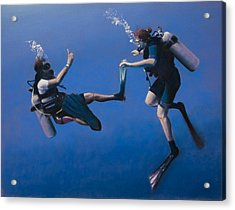 Divers Acrylic Print by Christopher Reid