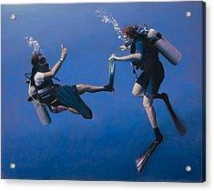 Divers Acrylic Print