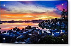 Diver's Cove Lake Tahoe Sunset Acrylic Print