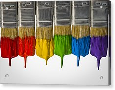 Diversity Paint Brushes Horizontal  Acrylic Print