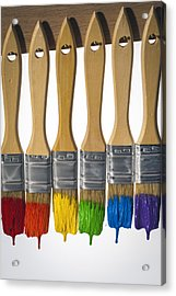 Diversity Paint Brushes Vertical Acrylic Print