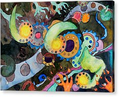 Acrylic Print featuring the painting Diverticulitis by Jeffrey S Perrine