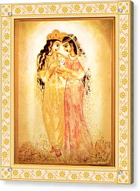 Acrylic Print featuring the mixed media Divine Love by Ananda Vdovic