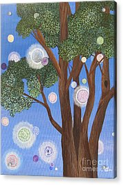 Acrylic Print featuring the painting Divine Possibilities by Cheryl Bailey