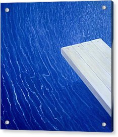 Diving Board 2004 Acrylic Print by Lincoln Seligman