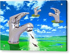 Diving Field. Acrylic Print by Diskrid Art