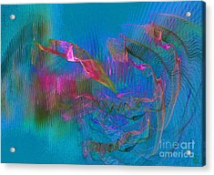 Diving Acrylic Print by Jeanne Liander