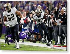 Divisional Round - New Orleans Saints V Minnesota Vikings Acrylic Print by Jamie Squire