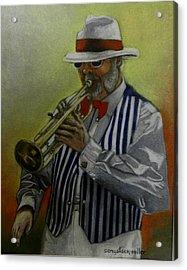 Dixie Music Man Acrylic Print by Sandra Sengstock-Miller