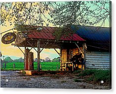 Acrylic Print featuring the photograph Dixie Oil And Gasoline by Rodney Lee Williams