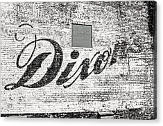 Dixon's Wall Sign Acrylic Print by Andy Crawford