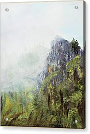 Acrylic Print featuring the painting Dixville Notch Nh by Michael Daniels