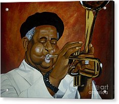 Dizzie Gillespie In Color Acrylic Print by Chelle Brantley