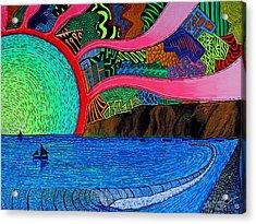 Dizzy Dana Point Acrylic Print by Sam Bernal